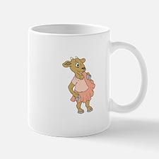 Goat Chewing on Dress Mugs