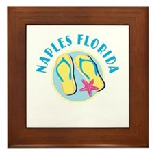 Naples Flip Flops Framed Tile