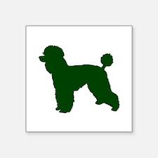 Poodle Green 1C Sticker
