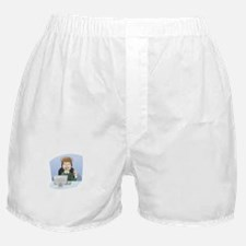 Cartoon Call Center Support Character Boxer Shorts