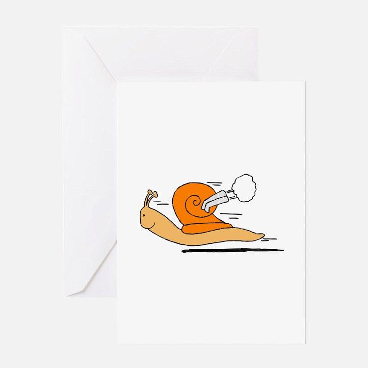 Lumaca turbo Snail Greeting Cards