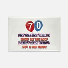 70 year old designs Rectangle Magnet (10 pack)