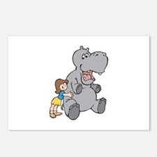 Hippo and Girl Postcards (Package of 8)