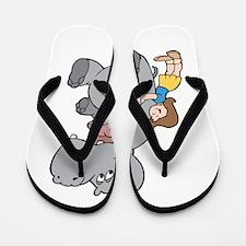 Hippo and Girl Flip Flops