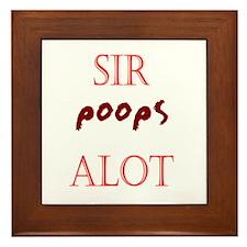 Sir Poopsalot Framed Tile