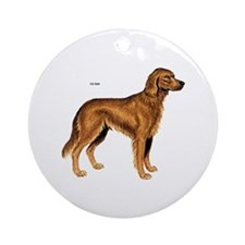 Irish Setter Dog Ornament (Round)
