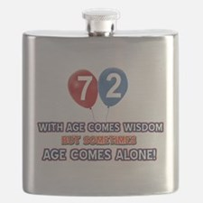 Funny 72 wisdom saying birthday Flask