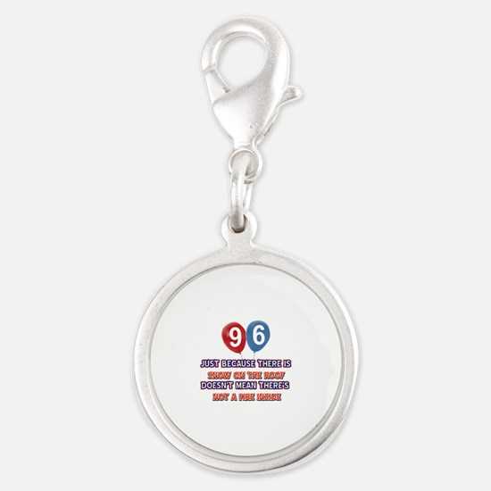 96 year old designs Silver Round Charm