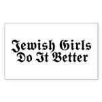 Jewish Girls Do it Better Rectangle Sticker