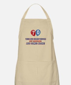 Funny 70 wisdom saying birthday Apron
