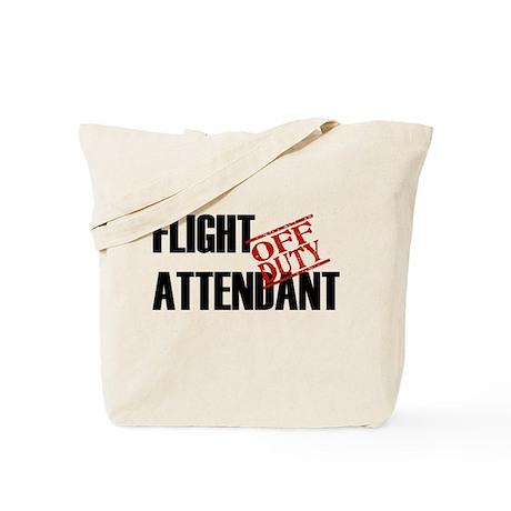 Off Duty Flight Attendant Tote Bag