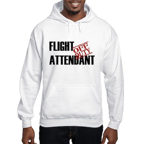 Off Duty Flight Attendant Hooded Sweatshirt