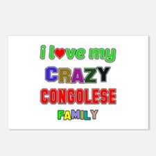 I love my crazy Congolese Postcards (Package of 8)