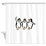 Dancing penguins Shower Curtains