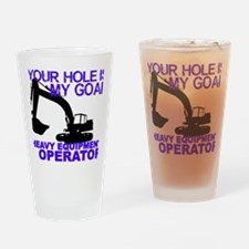 Crane operator Drinking Glass