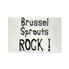 Brussel Sprouts Rock ! Rectangle Magnet