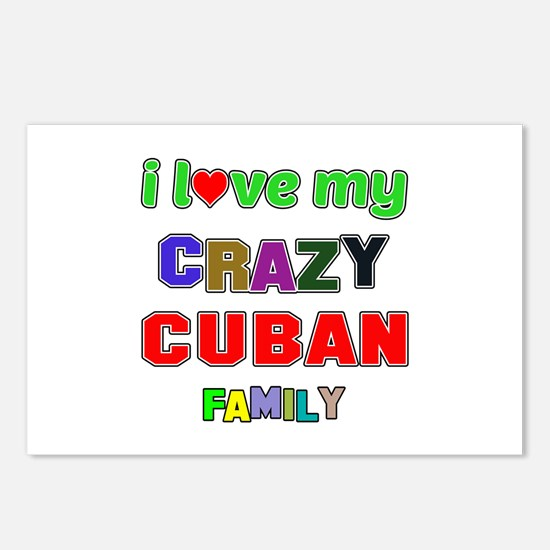 I love my crazy Cuban fam Postcards (Package of 8)
