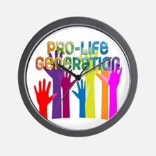 Pro-Life Generation Wall Clock