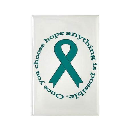 Teal Hope Rectangle Magnet (10 pack)