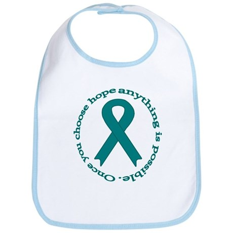 Teal Hope Bib