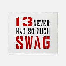 13 Swag Birthday Designs Throw Blanket