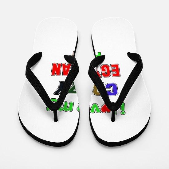 I love my crazy Egyptian family Flip Flops