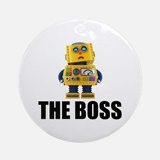 The Boss Round Ornament