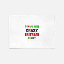 I love my crazy Eritrean family 5'x7'Area Rug
