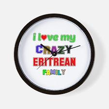 I love my crazy Eritrean family Wall Clock