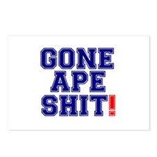 GONE APE SHIT! Postcards (Package of 8)