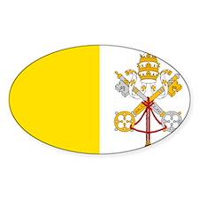 Cute Vatican city flag Decal