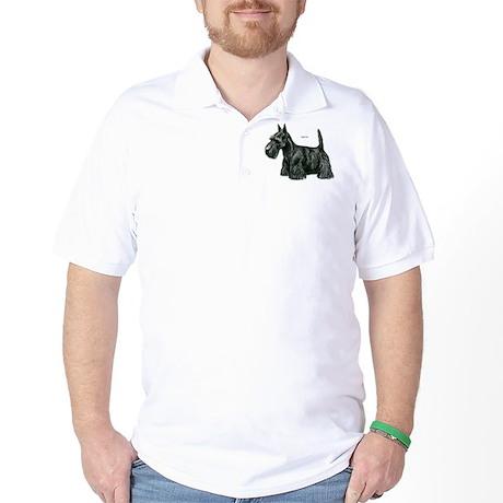 Scottish Terrier Dog Golf Shirt
