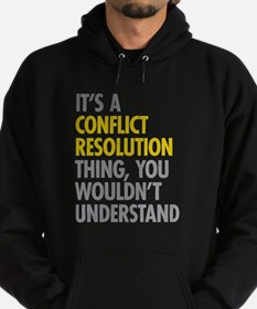 Conflict Resolution Thing Hoodie (dark)