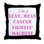Cancer Fightin Throw Pillow
