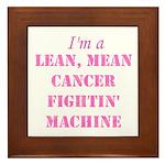 Cancer Fightin Framed Tile