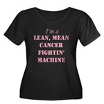 Cancer Fightin Women's Plus Size Scoop Neck Dark T