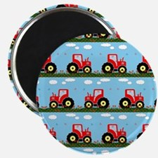 Toy tractor pattern Magnets