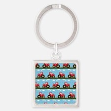 Toy tractor pattern Keychains