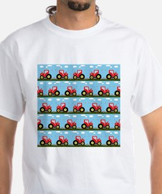 Toy tractor pattern T-Shirt