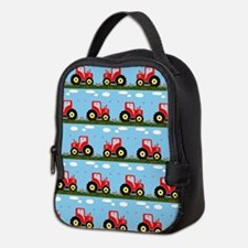 Toy tractor pattern Neoprene Lunch Bag