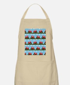 Toy tractor pattern Apron