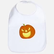 Halloween pumpkin smile Bib