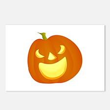 Halloween pumpkin smile Postcards (Package of 8)