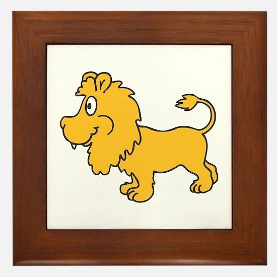 Lion small Framed Tile