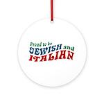 Jewish Italian Ornament (Round)