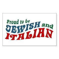 Jewish Italian Rectangle Decal