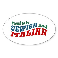 Jewish Italian Oval Decal