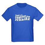 Jewish Italian Kids Dark T-Shirt