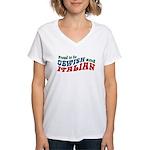 Jewish Italian Women's V-Neck T-Shirt