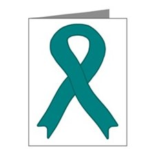 Teal Ribbon Note Cards (Pk of 20)